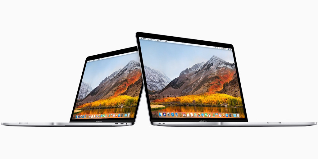 Apple MacBook Pro 13 and 15 inch models for 2018