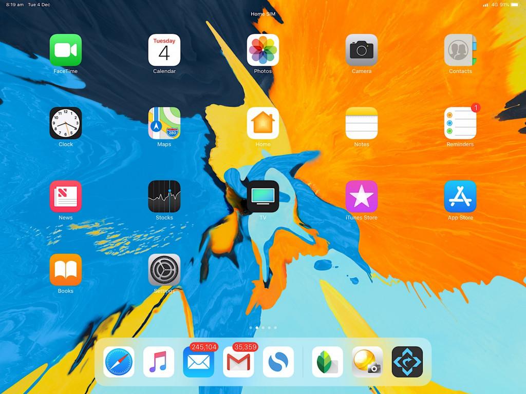 Apple iOS 12 on the 2018 iPad Pro