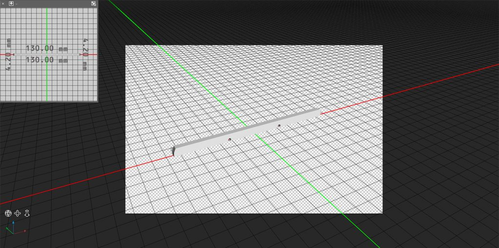 A Ballistix 3D model loaded into Photoshop