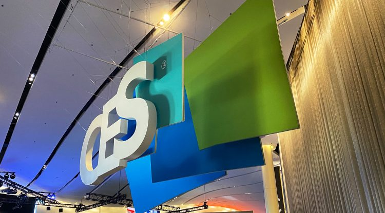 CES logo from the side