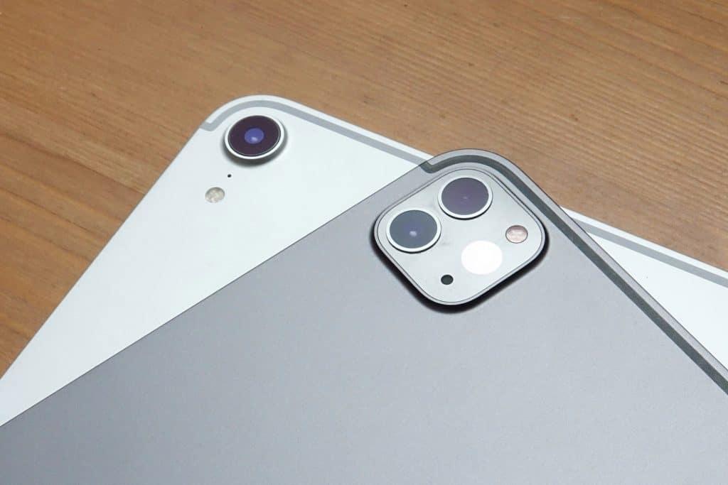 Apple iPad Pro 2020 camera setup wth the iPad Pro 2018 camera
