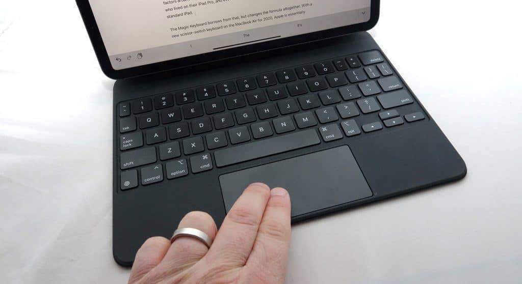 The trackpad on the Magic Keyboard