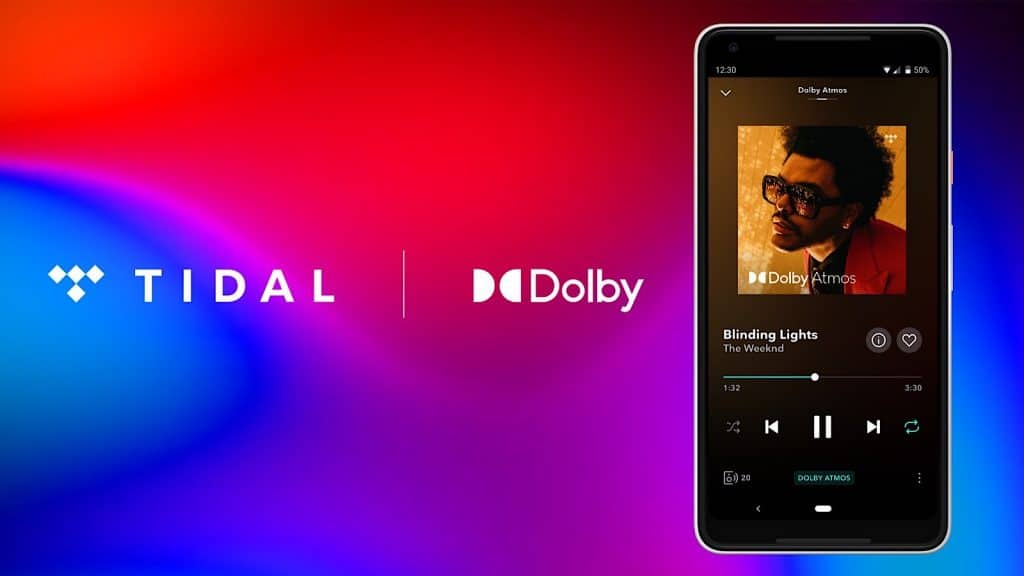 Tidal supports Dolby Atmos