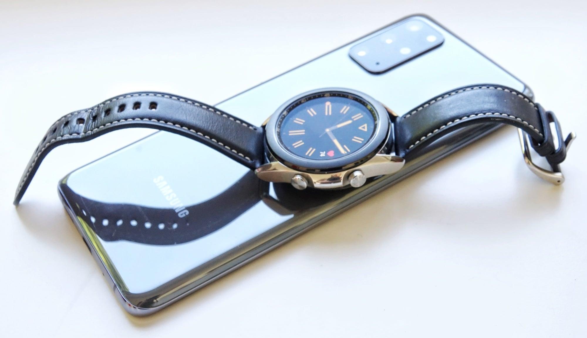 Samsung Galaxy Watch3 on the Samsung Galaxy S20+