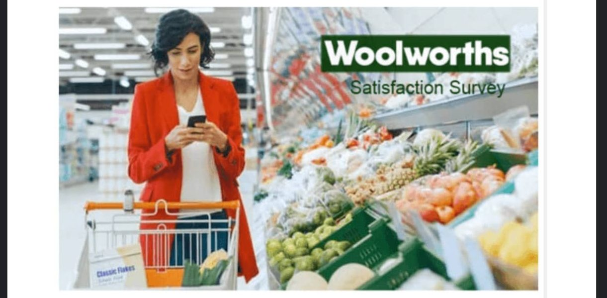 A fake Woolworths scam. Note the out of date logo.