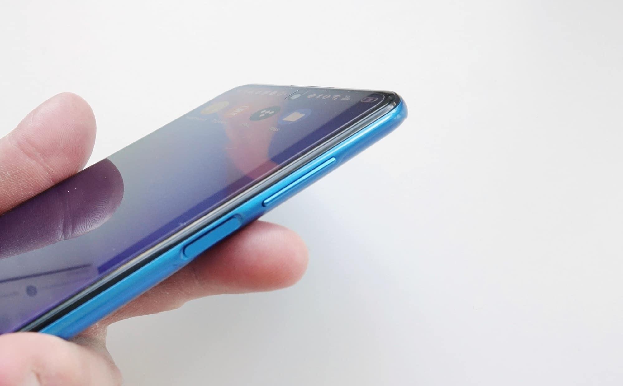 The fingerprint sensor in the TCL 20 5G.