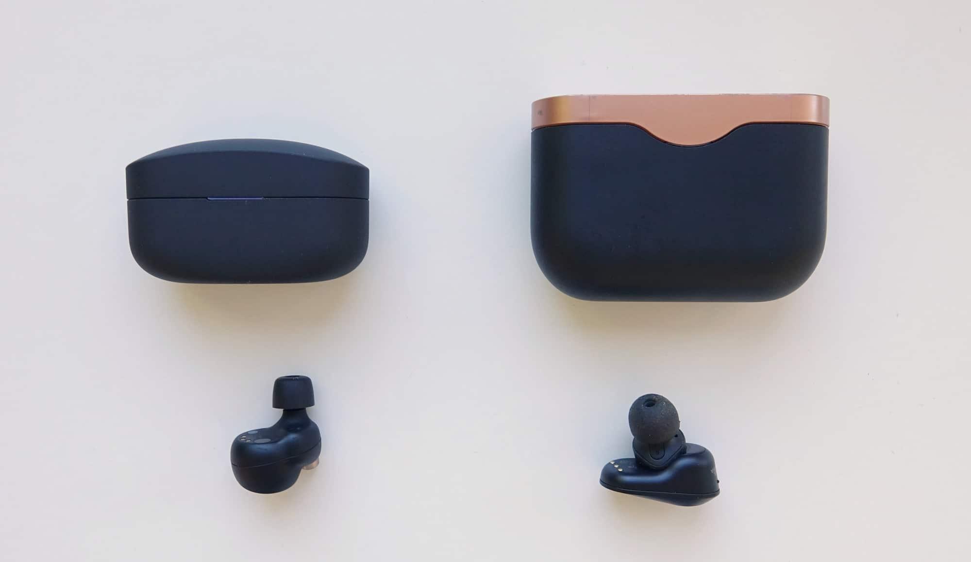 Sony WF-1000XM4 (left) vs Sony WF-1000XM3 (right)