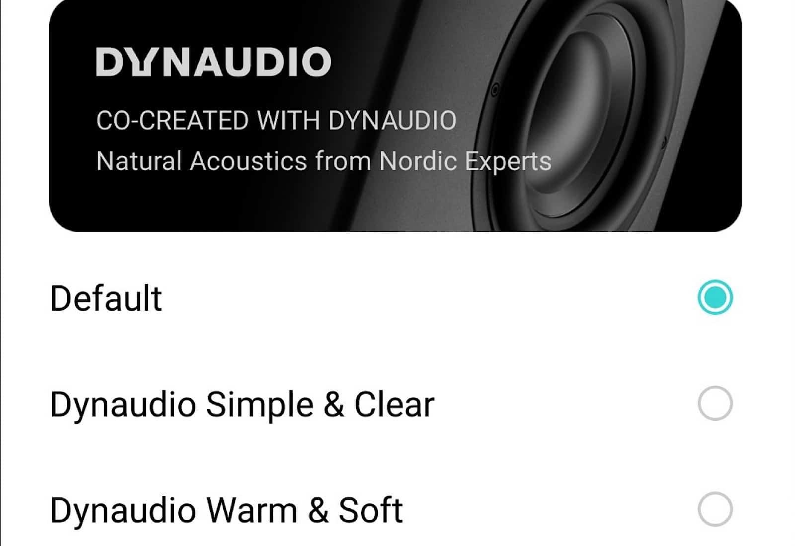 Oppo and Dynaudio's custom EQ settings